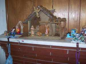 Our nativity scene and other small items for display