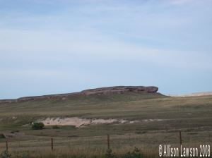 Rock formation outside of Cheyenne, Wy, that T and his mom just had to take pictures of.